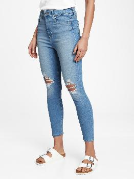 Sky High Rise Universal Distressed Legging Jeans with Washwell™ Gap Factory