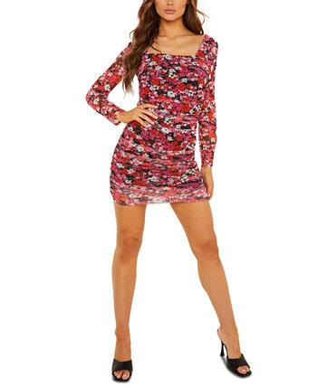 Платье со сборками и квадратным вырезом Quiz