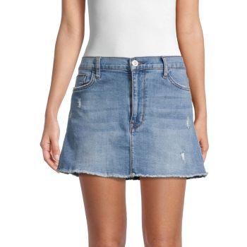 Vivid Denim Mini Skirt Hudson