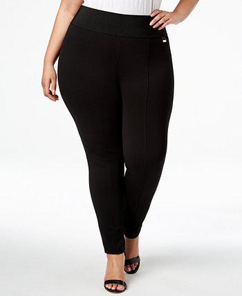 Узкие компрессионные брюки больших размеров без застежки Calvin Klein