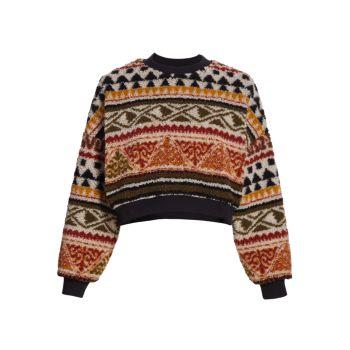 Укороченный свитер из флиса Etro