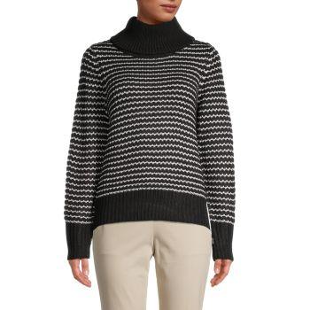 Striped Turtleneck Sweater Cliche