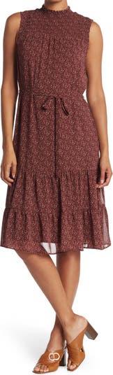 Sleeveless Smocked Midi Dress Daniel Rainn