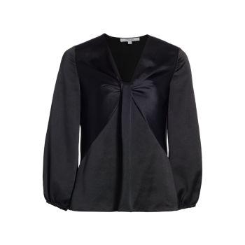 Атласная блузка Cailyn с перекручивающимся передом DEREK LAM 10 CROSBY