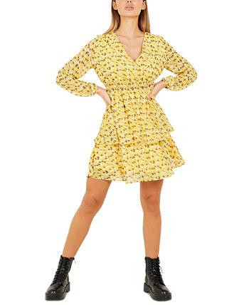Многоярусное платье со сборками на талии Quiz