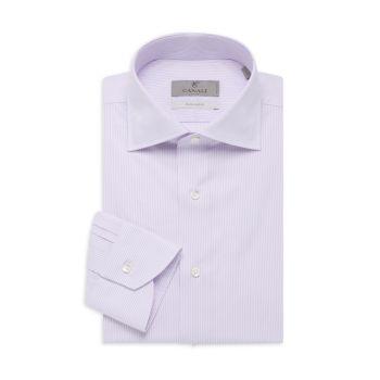 Классическая рубашка в блестящую полоску Canali