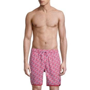 Oyster Shell Print Swim Shorts Mr Swim