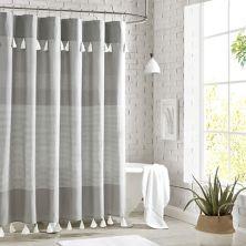 Peri Panama Stripe Shower Curtain Peri