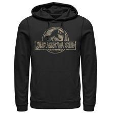 Мужская худи с логотипом Jurassic World Camo T-Rex Fossil с логотипом Jurassic Park