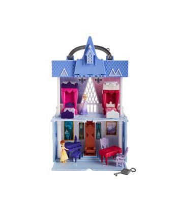 Набор для игр Disney Movie Pop Adventures Arendelle Castle с ручкой, в том числе кукла Эльза, кукла Анна и 7 аксессуаров Frozen