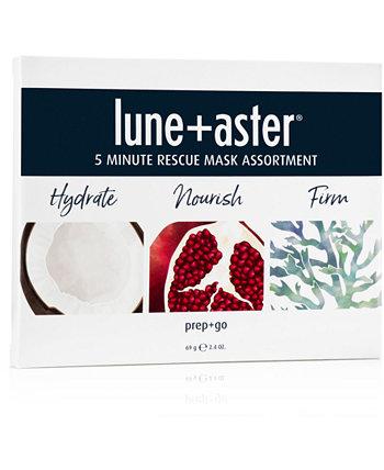 3-шт. 5-минутный набор масок для спасения Lune+Aster