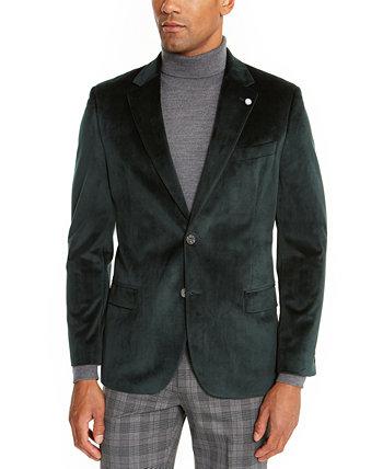 Бархатное спортивное мужское пальто современного кроя Nautica