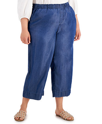 Plus Size Cropped Pull-On Pants, Created For Macys Bar III
