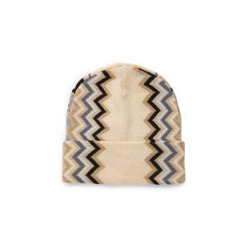 Шевронная шапка из смесовой шерсти Missoni