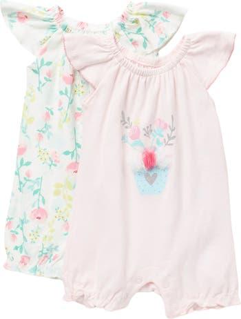 Комбинезон Spring Garden с оборками и цветочным принтом - 2 шт. В упаковке Baby Starters