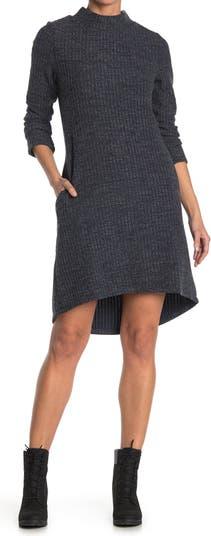 Платье-свитер с длинными рукавами и длинными рукавами с воротником-стойкой Papillon