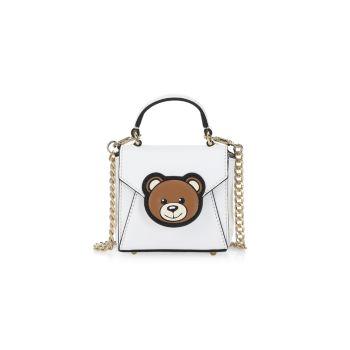 Кожаная сумка Mini Bear Moschino