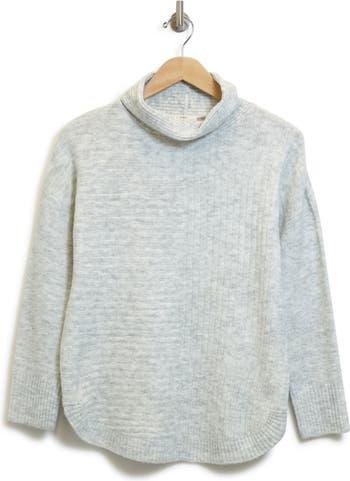 Вязаный свитер с воротником-стойкой в рубчик Como Vintage