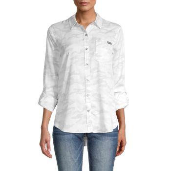 Рубашка с камуфляжным принтом Calvin Klein Jeans