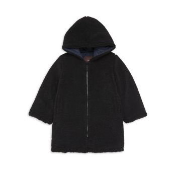 Маленькая девочка & amp; Двустороннее пальто Тедди для девочек Imoga