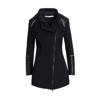 Update Traveler Zip-Up Jacket Blanc Noir