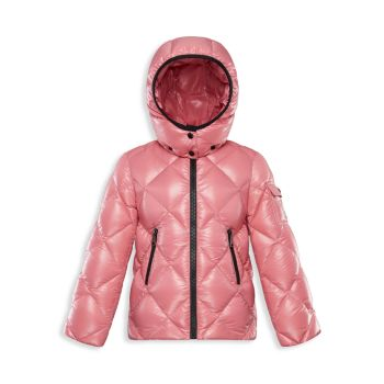 Little Girl's & Girl's Kamile Quilted Down Coat Moncler