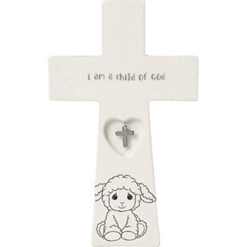 Я - дитя Божье 7,25-дюймовый крест с оберегом для крещения 183433 Precious Moments