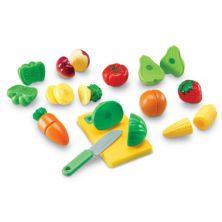 Учебные ресурсы Притворись и поиграй нарезанными фруктами и овощами Learning Resources