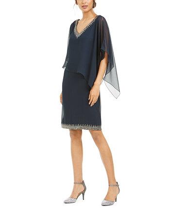 Платье-футляр с накладными украшениями J Kara