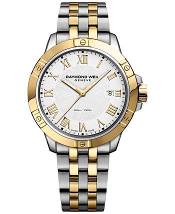 Мужские наручные часы Swiss Tango с двухцветным PVD-покрытием из нержавеющей стали 41 мм 8160-STP-00308 Raymond Weil