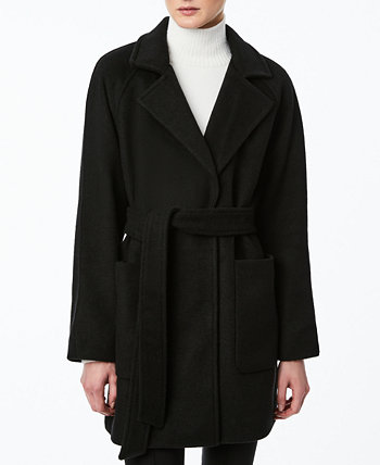 Однобортное пальто с запахом и поясом для юниоров Collection B
