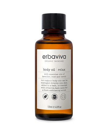 Relax Body Oil, 4 жидких унции ERBAVIVA