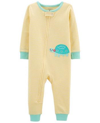 Toddler Girls Snug Fit Cotton Footed Pajama Carter's