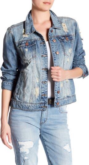 Джинсовая куртка с эффектом потертости STS BLUE