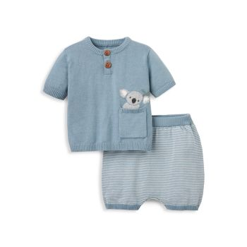 Двухкомпонентная футболка Baby Boy's Joey Koala & amp; Комплект шорт Elegant Baby