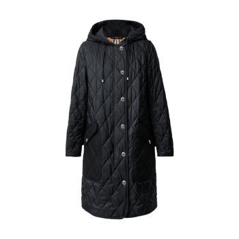 Стеганое пальто из нейлоновой ткани Roxby Burberry