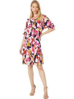 Jewel Neck Drop Shoulder Shift Dress London Times