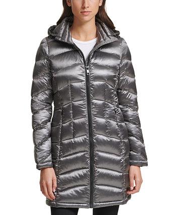 Упаковываемый пуховик с капюшоном Shine, созданный для Macy's Calvin Klein