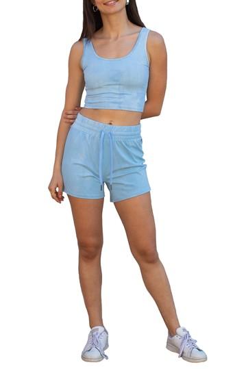 Tye Dye Drawstring Shorts Electric Yoga