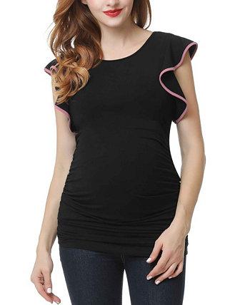 Топ для беременных с рукавами Ruth Kimi + kai