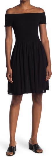 Платье с коротким рукавом со сборками Cotton Emporium