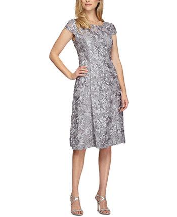 Платье трапециевидной формы с розеткой Alex Evenings