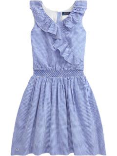 Gingham Cotton Seersucker Dress (Big Kids) Ralph Lauren