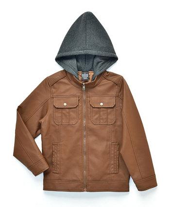 Байкерская куртка Big Boys Raging с флисовым капюшоном, Made For Macy's Ring of Fire