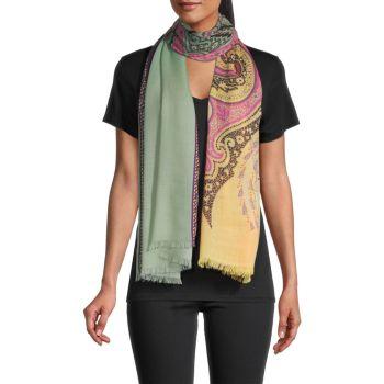Кашемировый шарф с пейсли Etro