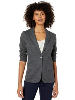 Пиджак на одной пуговице с длинным рукавом из хлопка / кашемира с 2 карманами Majestic Filatures