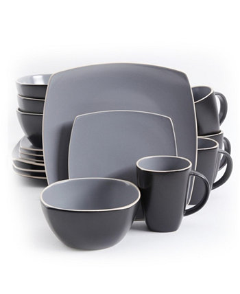 Матовый набор столовой посуды Soho Lounge из 16 предметов Gibson