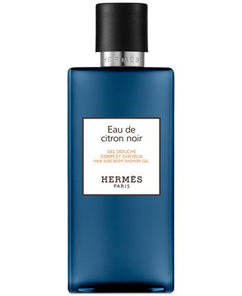 Гель для душа Eau de Citron Noir для волос и тела, 6,7 унций. HERMÈS