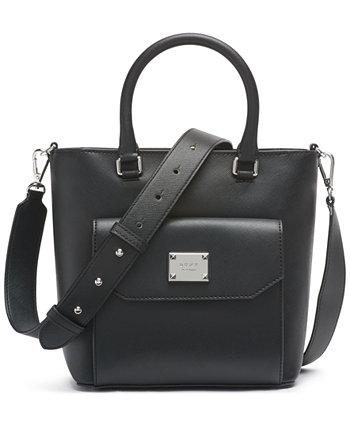 Сумка-портфель среднего размера с жемчугом DKNY