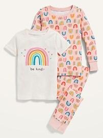 Пижамный комплект из 3 предметов унисекс с принтом для малышей и малышей Old Navy